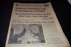 Fort Worth Press Newspaper John F Kennedy Funneral  Lee Harvey Oswald Shot