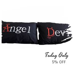 Today Only! 5% OFF this item.  Follow us on Pinterest to be the first to see our exciting Daily Deals. Today's Product: ON SALE - 5N- Angel...Devil . Bed Pillow Cases / Covers Buy now: https://www.etsy.com/listing/454136726?utm_source=Pinterest&utm_medium=Orangetwig_Marketing&utm_campaign=christmans   #etsy #etsyseller #etsyshop #etsylove #etsyfinds #etsygifts #pillowcases #pillowcovers #originalgift #photooftheday #instacool #onlineshopping #musthave #instashop #instafollow #shopping…