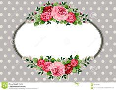 Retro Oval Roses Vintage Stock Photo - Image: 25712120