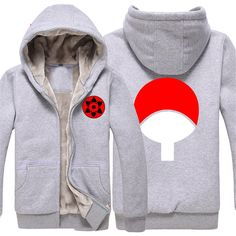 Vicwin-One Naruto Uchiha Sasuke Logo Thick Hoodie Costume Cosplay (Size L) * Check out the image by visiting the link.