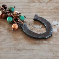 Horseshoe Copper Key Chain Lucky Purse Charm by DlightedJewelry