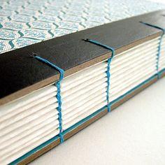 coptic binding tutorial for HARDBACK books via Etsy