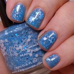 Painted Nubbs: Revisited: KBShimmer Snow Much Fun