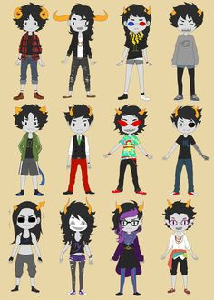 I like these genderbent trolls. and Female Karkat is the same as Male Karkat... sounds good to me.