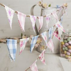 Are you looking for outdoor bunting? With our great range of garden bunting, you need look no further. Mini Bunting, Wedding Bunting, Bunting Banner, Bunting Ideas, Buntings, Banners, Diy Garden Bunting, Easter Crafts, Crafts For Kids