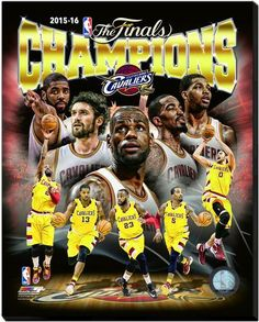 Cleveland Cavaliers 2016 NBA Champions - 16 x 20 HD Photo on Stretched Canvas