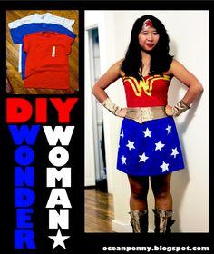 DIY Wonder Woman Costume for < $10