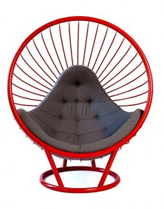 Wire Bubble Chair designed as part of Rousseau curvaceous wire collection. Made from powder coated cnc formed steel wire. With contract grade fire ratings on all upholstery. Specialist colours and finishes on both metal work and upholstery are available on request.
