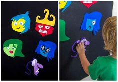 Want to keep the fun indoors? Try this felt character activity.