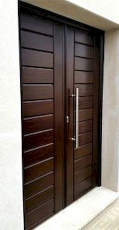 Artistic Wooden Door Design Ideas To Try Right Now 13 Mark Márquez tiene 24 años Front Door Design Wood, Home Door Design, Double Door Design, Door Design Interior, Wooden Door Design, Wood Front Doors, Oak Doors, Interior Doors, Modern Entrance Door