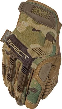 45f3b67d3a8 Mechanix Wear - MultiCam M-Pact Glove, Camouflage, Size Large, Multicolor