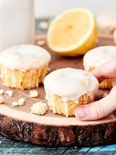 These Vegan Lemon Pound Cake Cupcakes are dense, moist, perfectly lemony, and smothered in the most delicious two ingredient glaze! A great dessert for warmer weather. showmetheyummy.com