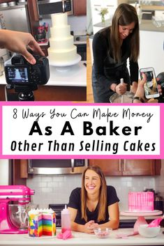 As crazy as it sounds, I'm a baker that doesn't sell her cakes! Learn how I make my living through a variety of different revenue streams. Bakery Business Plan, Baking Business, Cake Business, Business Ideas, How To Make Wedding Cake, Cool Wedding Cakes, Different Cakes, Baking Tips, Baking Recipes