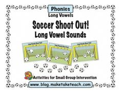Fun soccer themed activity for practicing long vowels