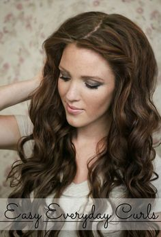The Freckled Fox : 'The Basics' Hair Week, Tutorial #1: Everyday Curls + Review and Giveaway!
