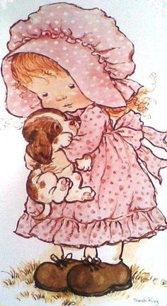 Holly Hobbie, Sarah Key, Baby Art, Happy Birthday Wishes, Retro Art, Love Painting, Colouring Pages, Vintage Cards, Painting Inspiration