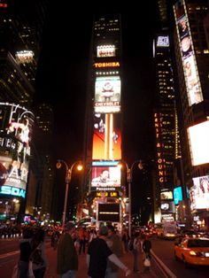 """Quintessential Times Square - New York City I don't care how """" touristey"""" it is.. I do love Times Square"""