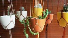 Rustic Wedding Decor / Ceramic Pot Holder / by UtilartMacrame