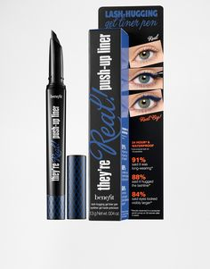 They're Real! Push Up Liner by Benefit Gel liner Smudge-proof and long-lasting formula Glides on and hugs the lashline Creating a defined, bigger eye look Soft AccuFlex tip for easy application Available in 4 new shades