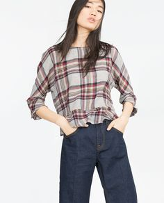 CHECK TOP - View all - Tops - Woman - COLLECTION SS16 | ZARA United States
