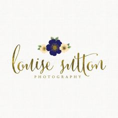 photography logo flower logo design gold by stylemesweetdesign