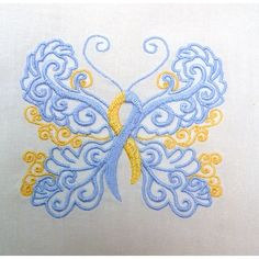 Down Syndrome Awareness Butterfly | Oma's Place Embroidery (World DS Day -March 21st - is just around the corner!)