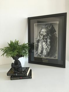 HEAD of an OLD MAN Durer framed ink painting under от KatieKhomme #Живопись  #Ink  #painting  #art  #durer  #AlbrechtDurer  #realistic #paintings #classical #painting  #medieval  #interior  #manportrait  #study  #vintage  #Renaissance  #engravings