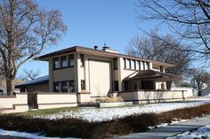 H P Sutton House. Frank Lloyd Wright Prairie Style. McCook, Nebraska. 1907-8