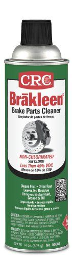 CRC BRAKLEEN Chlorine-Free Brake Parts Cleaner - Low VOC - Chlorine-free formula that quickly removes brake fluid, grease, oil, and other contaminants from brake linings and pads.
