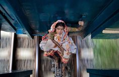 One girl's illegal train ride in Bangladesh