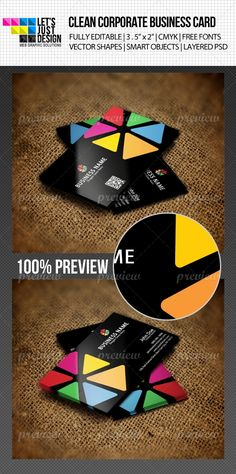 Colorful Creative Business Card