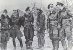 Hungarians with the Luftwaffe. Hungarian pilots were attached to Jagdgeschwader 52 in the Eastern Front (Hungarian front) to aid in the struggle against the Soviets. From the left: Kapitány László Pottyondy, Leautnant Erich 'Bubi' Hartmann...pin by Paolo Marzioli
