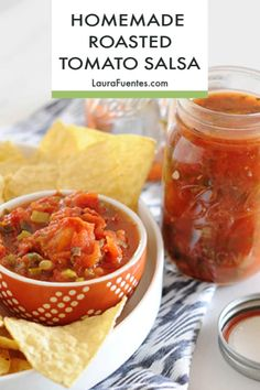 Fresh salsa recipe, on tap! Learn how to can salsa the easy way with @BallJars. Probably have them in your pantry, so all you need are fresh ingredients to make it. #ad #freshsalsa #salsarecipes #canning #Ball135