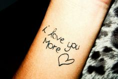 Love you more best friend handwriting!