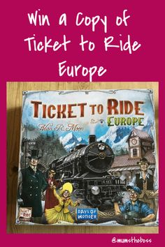 Ticket to Ride is one of our family's favourite board games. Now you can get hold of a copy too, as Asmodee games have asked me to give one away Competitions Uk, Ticket To Ride, Fun Ideas, Giveaways, Board Games, Sewing, Day, Amazing, Life