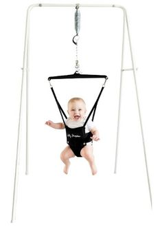 Convenient & Easy to Transport Rockers Stand - The Jolly Jumper on a Stand is a baby exerciser port-a-stand that is great for any child in the pre-walking stage. The Jolly Jumper helps your baby impro Best Baby Bouncer, Camping With A Baby, Baby Rocker, Baby Swings, Bouncers, Baby Essentials, Baby Necessities, Baby Gear, Nursery Organization