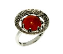 Silber Ring mit Koralle  #Koralle #Silber #Natursteinschmuck #Handarbeit #Korallenschmuck #Silberschmuck