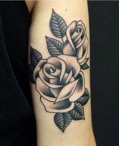 #rosetattoo #rose #tattoo #oldschool #blackandbold