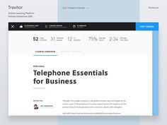 Travitor LMS – Create a Course by George Kvasnikov - Dribbble