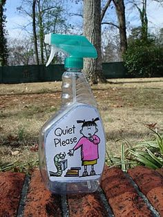 """Take an EMPTY spray bottle and before needing quiet, """"spray"""" the class. For example, when walking down the hall, or when expecting a guest speaker, and before a test."""