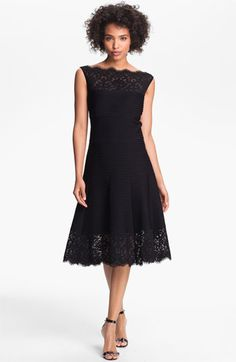 Tadashi Shoji Matte A-Line Jersey Dress very elegant but, not sure I want black...comes in marina blue too. Don't like that.