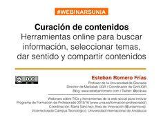 Curación de contenidos: Herramientas online para buscar información, …