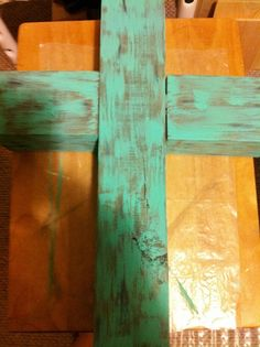 How to make and paint a  wooden cross from a 3 1/2 x 3 1/2 wooden block.