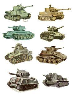 WW2 tanks studies by Spaska on DeviantArt