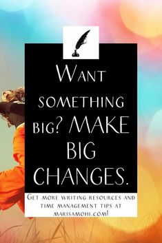 Want to get something big out of your life? You need to make big changes. Check out this post for tips on living the life you actually want. #selfgrowth #personaldevelopment #gyst Self Development, Personal Development, Time Management Strategies, How To Become, How To Get, How To Stop Procrastinating, Something Big, Life Plan, Writing Resources