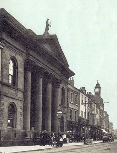 Doncaster Guildhall, circa 1908, from an old postcard.