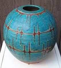 """Maija Grotell emigrated from Finland after college to USA, often referred to as the """"mother of American ceramics"""" Porcelain Ceramics, Ceramic Pottery, Pottery Art, Pottery Ideas, Painted Porcelain, Earthenware, Stoneware, Keramik Design, Ceramics Projects"""