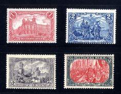 Germania Markwerte Mi.Nr. 94 - 97