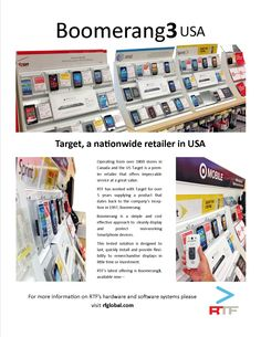 Target uses Boomerang to secure and present Smartphones on display in there retail store all across the US