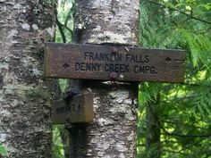 Franklin Falls Franklin Falls, Trail Signs, My Favorite Part, Dog Tag Necklace, Hiking, Outdoor Decor, Walks, Trekking, Climbing
